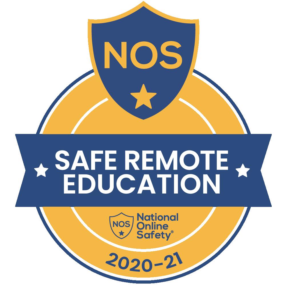 National Online Safety Safe Remote Education 2020-21 badge